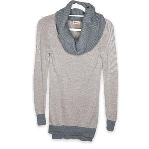 Loft Cowl Neck Striped Shirt Sweater XS